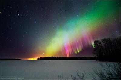 Northern Lights.  Sturgeon Falls, Ontario