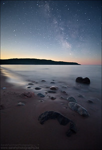 Gargantua Bay.  Lake Superior Provincial Park, Ontario.