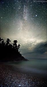 Lake Superior. Lake Superior Provincial Park, Ontario.