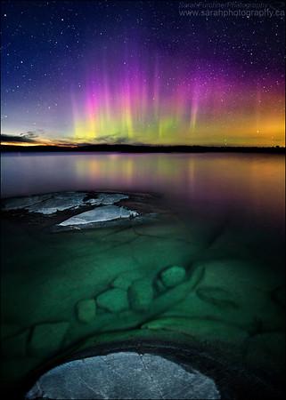 Northern Lights.  Phillip Edward Island, Georgian Bay. Lake Huron.