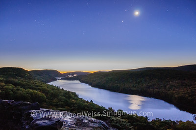 Just before sunrise, Lake in the Clouds overlook, Porcupine Mountains.