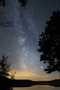 Milky Way over the Ausable River Cooke Dam Pond.