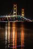 Mackinac Bridge light reflections