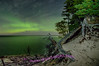 Northern Lights over Lake Superior, Beaver Basin Wilderness area of Pictured Rocks National Lakeshore.