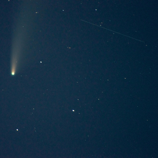 Neowise Comet and Shooting Star