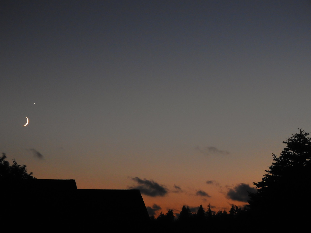 Moon Saturn and Sunset