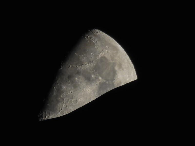 Moon and Mt Rainier