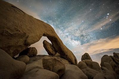 Milky Way over Arch Rock, Joshua Tree National Park
