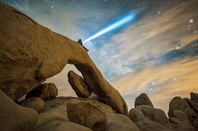 Arch Rock Light painting, Joshua Tree