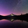 Stars over Mt Hood at Trillium Lake, Oregon