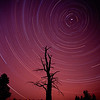 Star trails over Pearson Ridge, Oregon