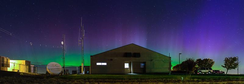 Northern Lights over Pendleton, Oregon