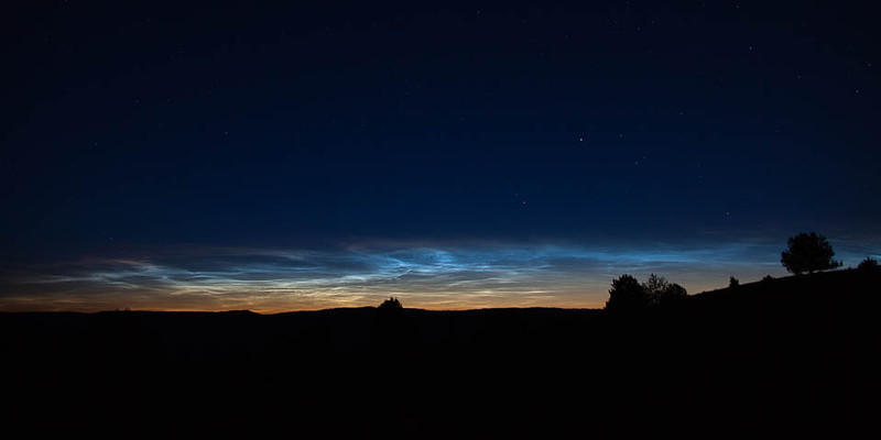 Noctilucent clouds over Ritter Butte