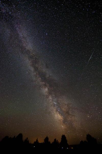 Iridium flare and the Milky Way Galaxy