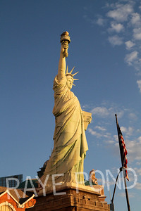 Statue of Liberty Replica at New York, New York.