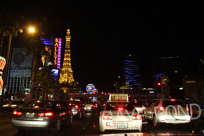 Traffic on the Vegas Strip.