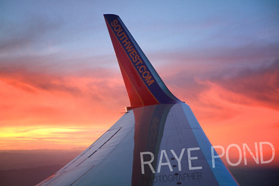 Southwest Flight from Las Vegas to Kansas City.  Beautiful sunset.