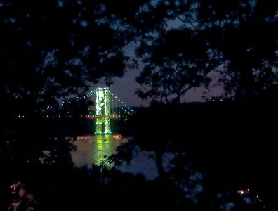 George Washington Bridge, Hudson River, From Below Fort Washington Park