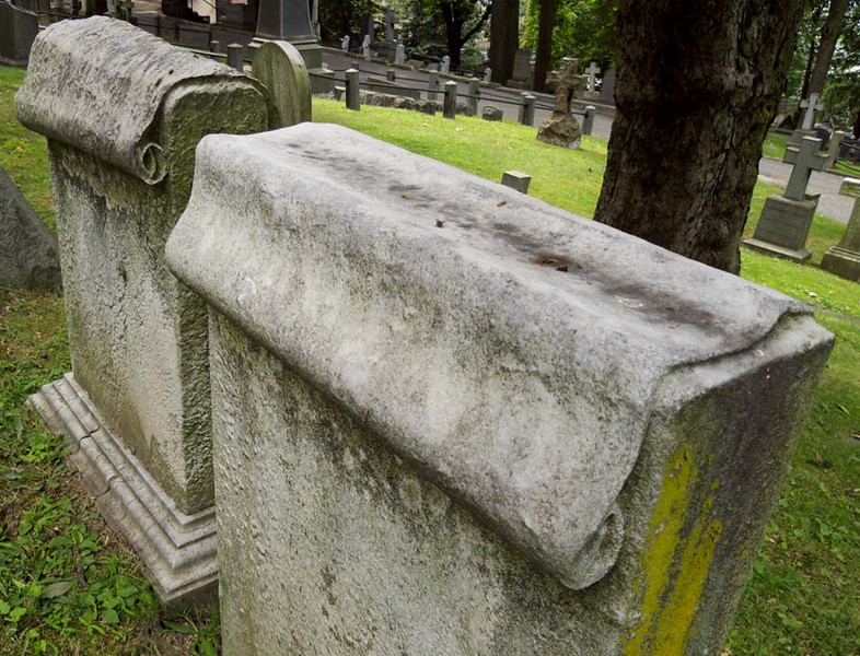 Scroll Symbols, Trinity Church Cemetery & Mausoleum, NYC
