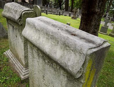Scroll Symbols, Trinity Church Cemetery & Mausoleum, NYC