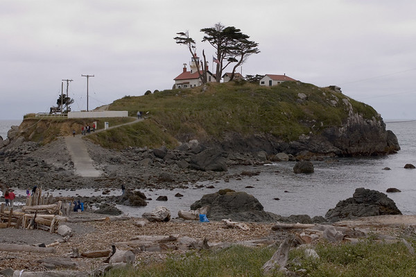Crescent City lighthouse. It is necessary to time your visit with the tides!