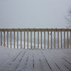 Nor'easter: Worm's eye view of deck