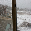 Nor'easter: Through upstairs front windows