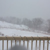 Nor'easter: Higher view of deck as wind howls