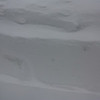 Nor'easter: Walk after being snow blown, about 2.5' deep, porch covered 1.5 up door