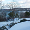 After light snow, toward town