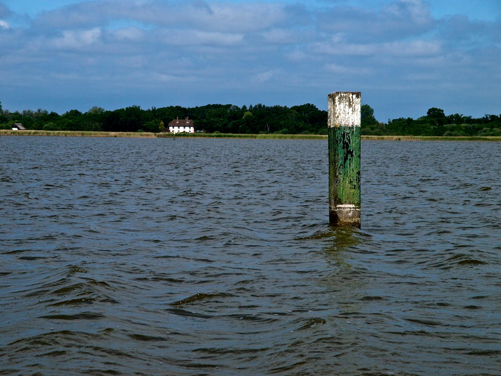 House and Post at Head of Hickling Broad