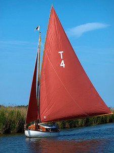 Boating on the Broads -- River Thurne