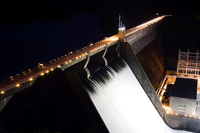 Norris Dam at Night
