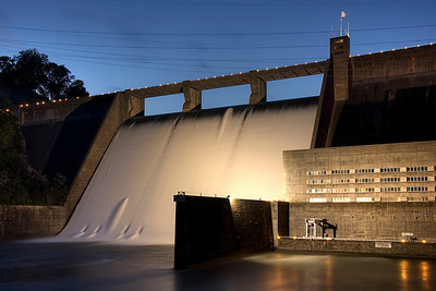 Norris Dam at Dusk