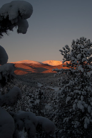 Snowy Sunrise on Mt. Logan