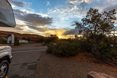 Dsunset at Devils Garden Campground