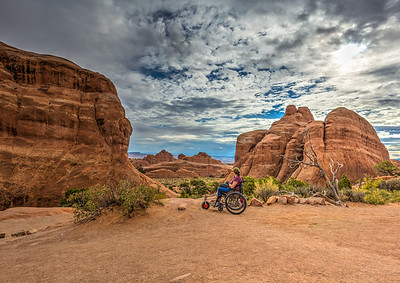 driving around Arches NP