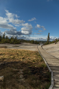 Boardwalk in Yellowstone