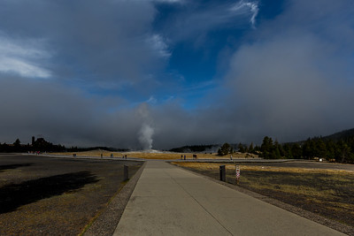 early Morning at Old Faithful