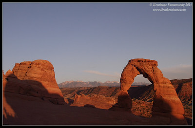 The Delicate Arch, Arches National Park, Moab, Utah, May 2014