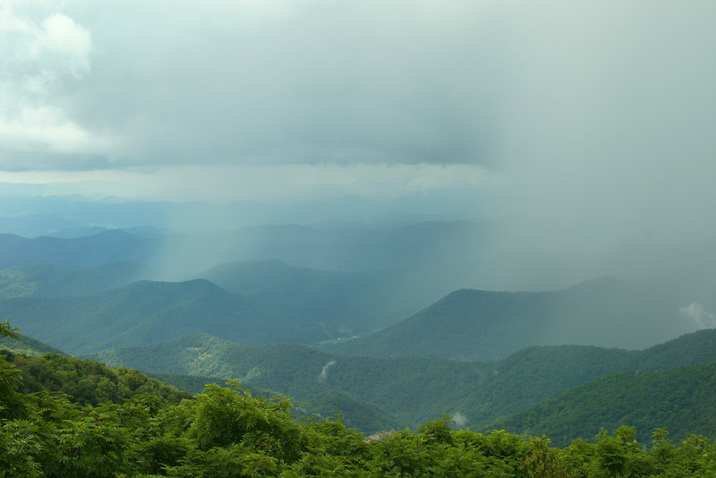 View from Craggy Pinnacle Parking Lot.