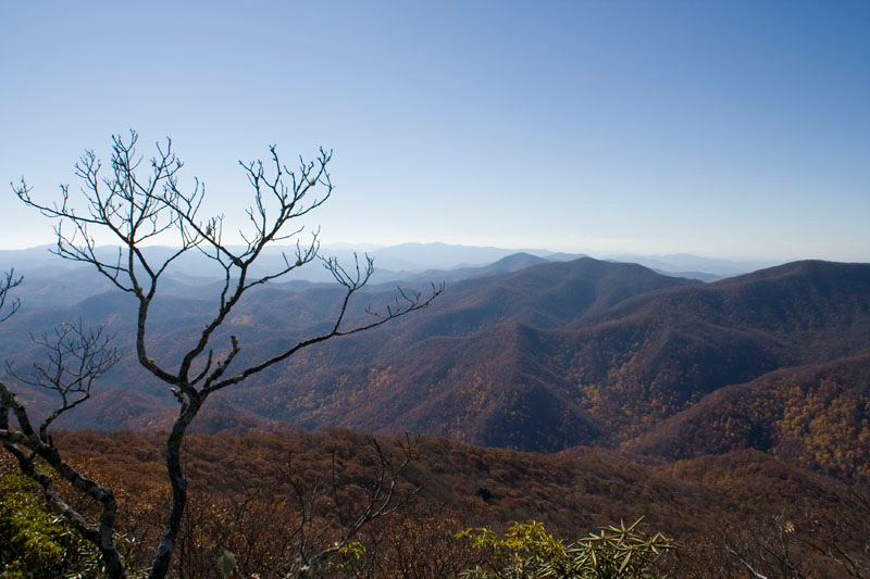 View from Big Scaly Mtn, NC <br /> Nov 2008