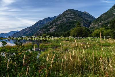 Morning Scenery On The North Tip Of Lake Chelan, Lake Chelan National Recreation Area