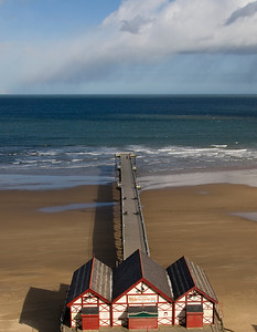 Shower out to Sea - Saltburn Pier