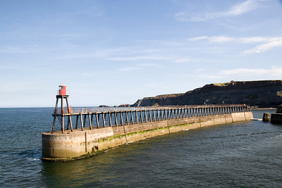 Harbour wall at Whitby