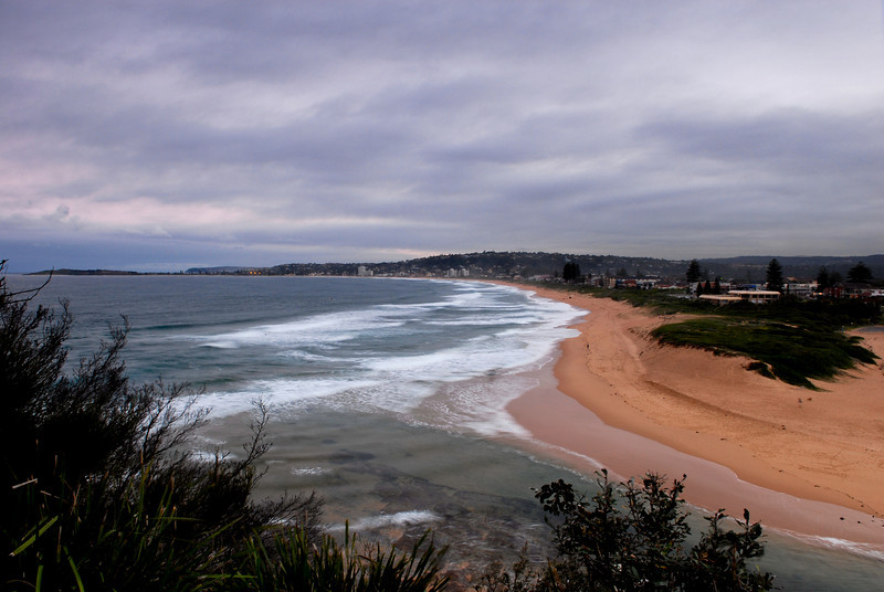 Looking south from North Narrabeen lookout. 17.06.08