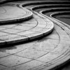 Curved pavement art