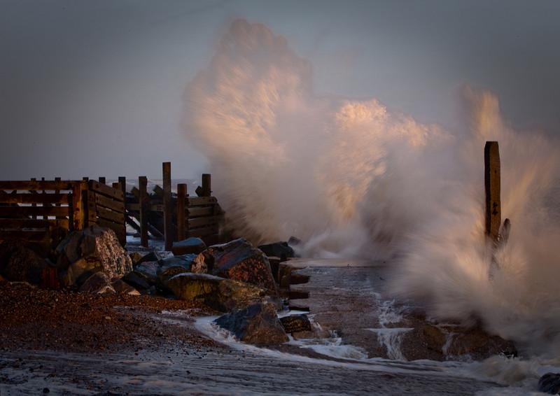 Forceful erosion.