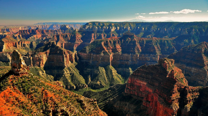 Bright Angel Point, North Rim, Grand Canyon National Park.