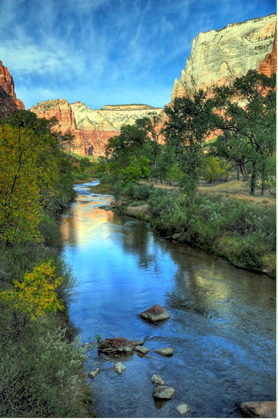 Virgin River, Zion National Park.